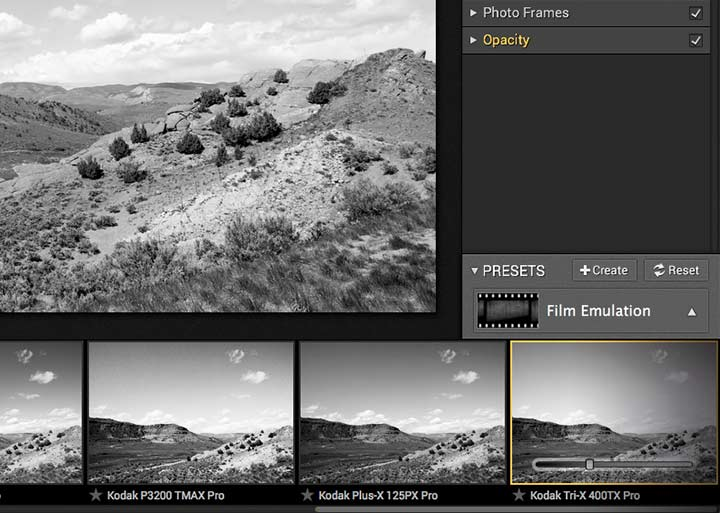 adjusting amount of preset editing option