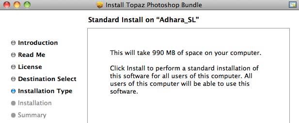 install options