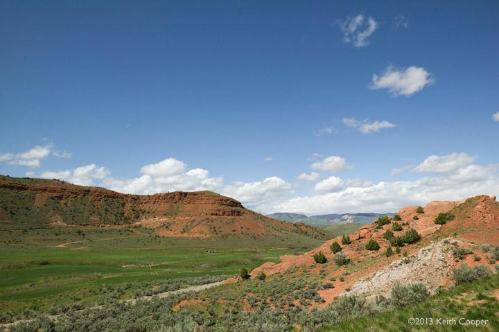 Rocky hills, Wyoming