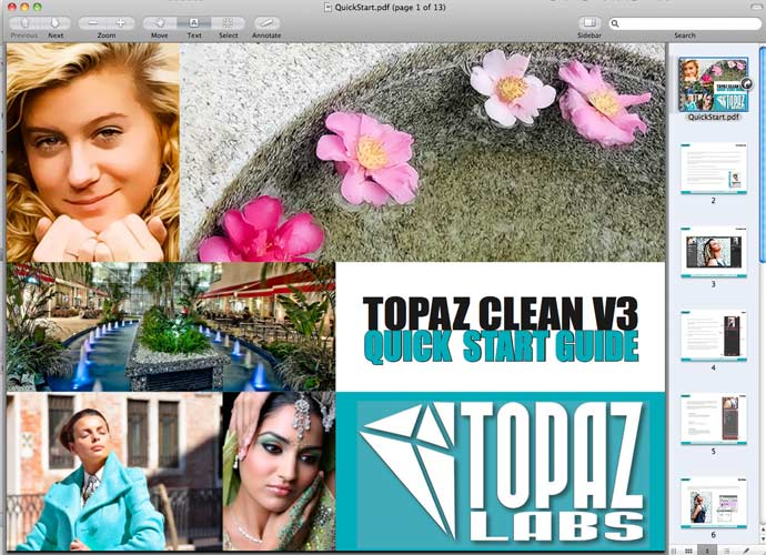 topaz clean - quick start guide