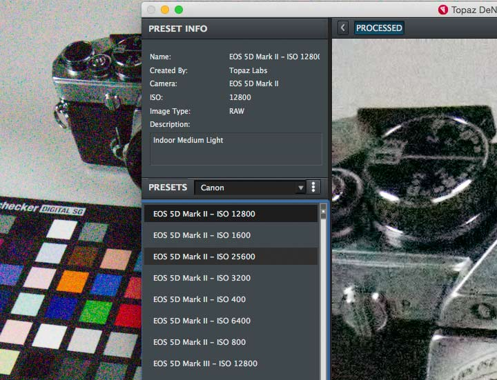 camera preset collection