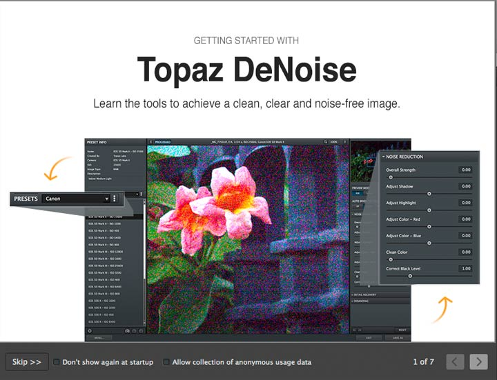 startup options for denoise