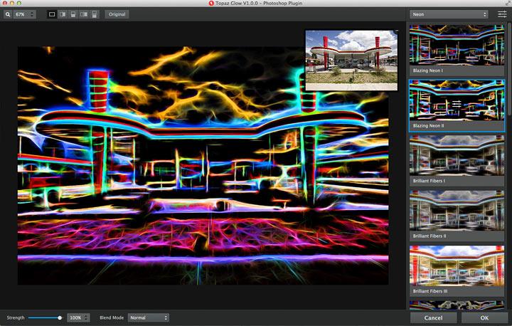 the 'blazing neon' effect