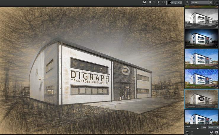 industrial unit rendered as sketch