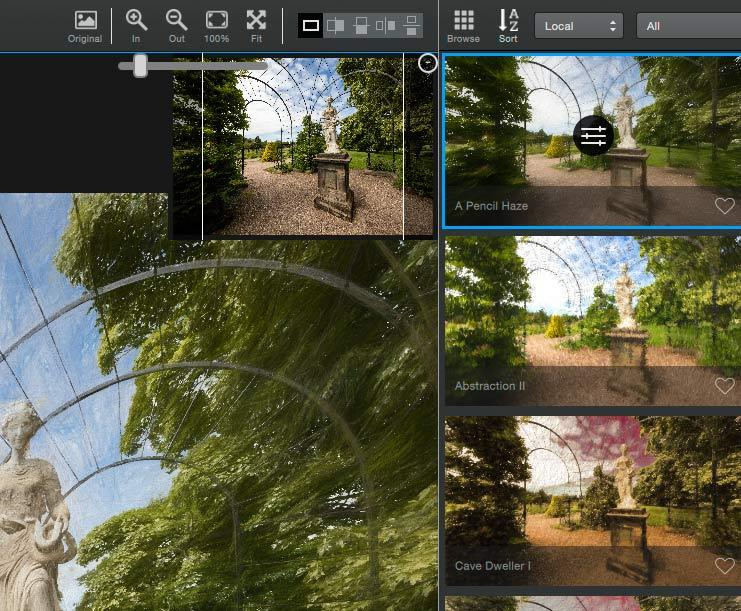 navigation windo for image display