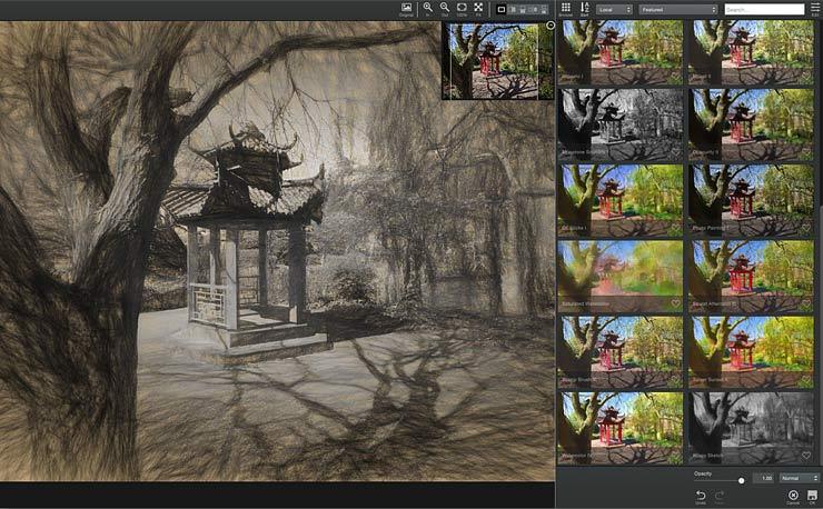multiple preset adjustment previews