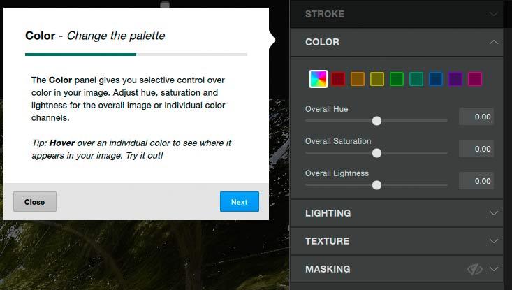 image colour adjustments