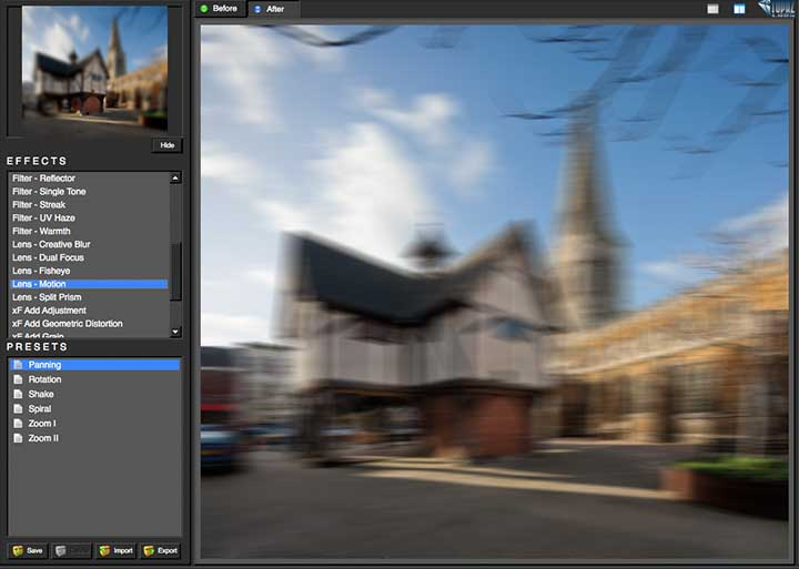 adding forms od motion blur