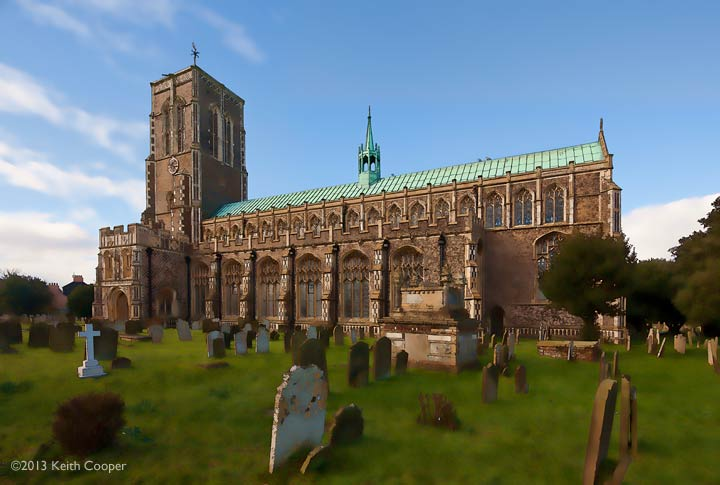 Stylised view of St Edmund's, Southwold