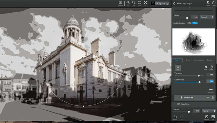 masking using the colour information of an image