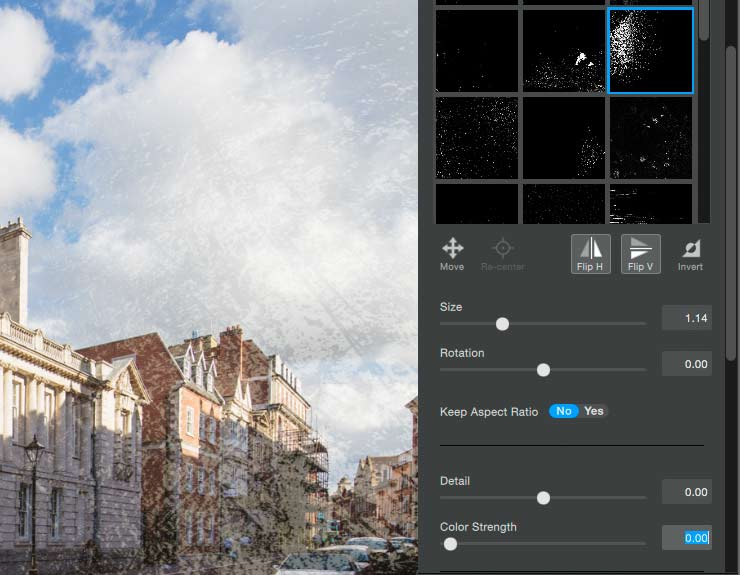 setting size and rotation for an applied texture