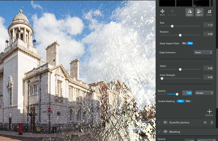 changing the opacity of an applied texture