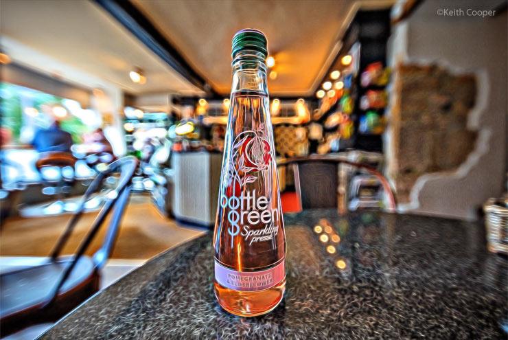 bottle f drink on table