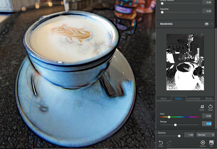 colour masking for image edit