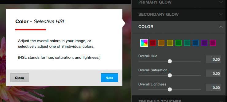 colour adjsutment for image
