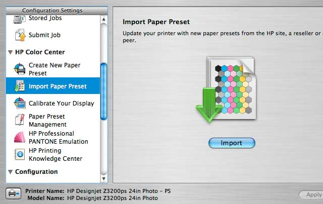 loading paper preset from Innova