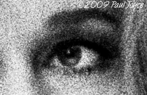 Jane Fonda's eye