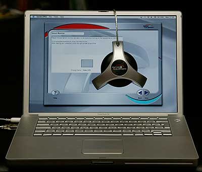 Apple Powerbook - back when we reviewed the Spyder2 Pro