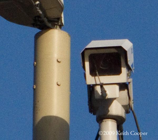 cctv camera and blue sky (100%)