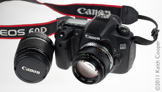 EOS 60D with Olympus 50mm f/1.2 lens