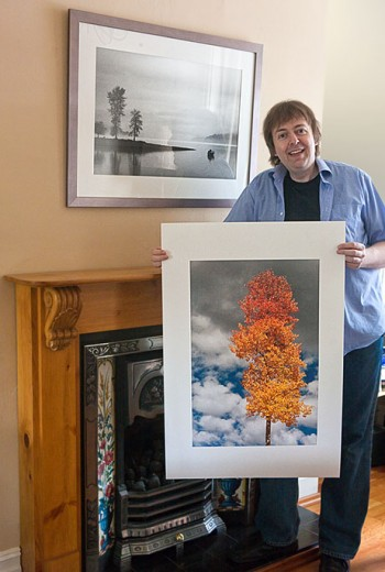 Keith Cooper and two of his prints