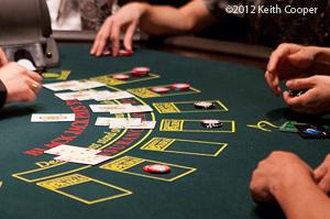 hands playing blackjack