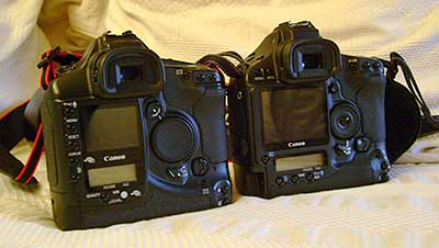 Canon 1Ds and 1Ds mk3 side by side