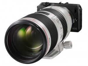 eos-m with 70-200 lens