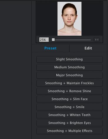 preset software adjustments