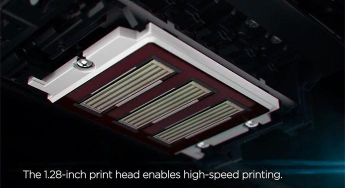 print head, underside
