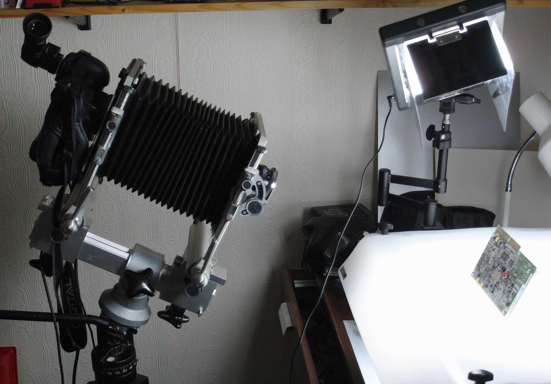 Macro setup with long bellows