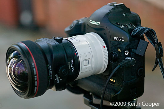 how to put 1 4 extender canon 300 mm