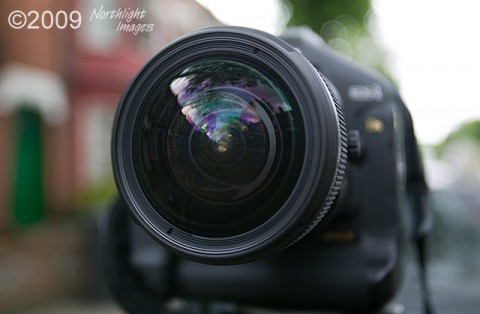 front view of lens