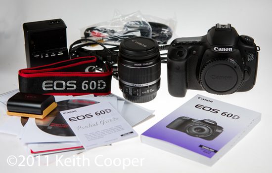 Canon EOS 60D DSLR - opening the box and camera setup