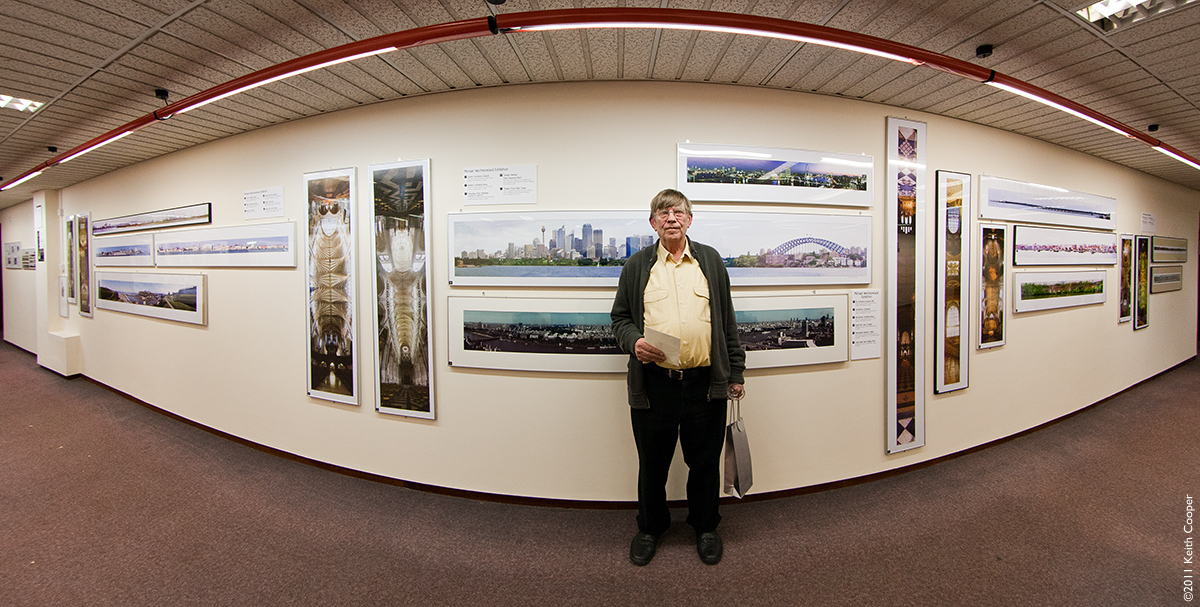 Michael Westmoreland at his 80th birthday exhibition at the LPPG