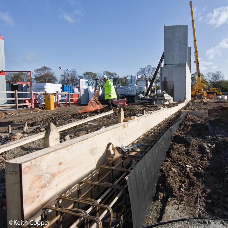 Foundation groundwork, sports stadium