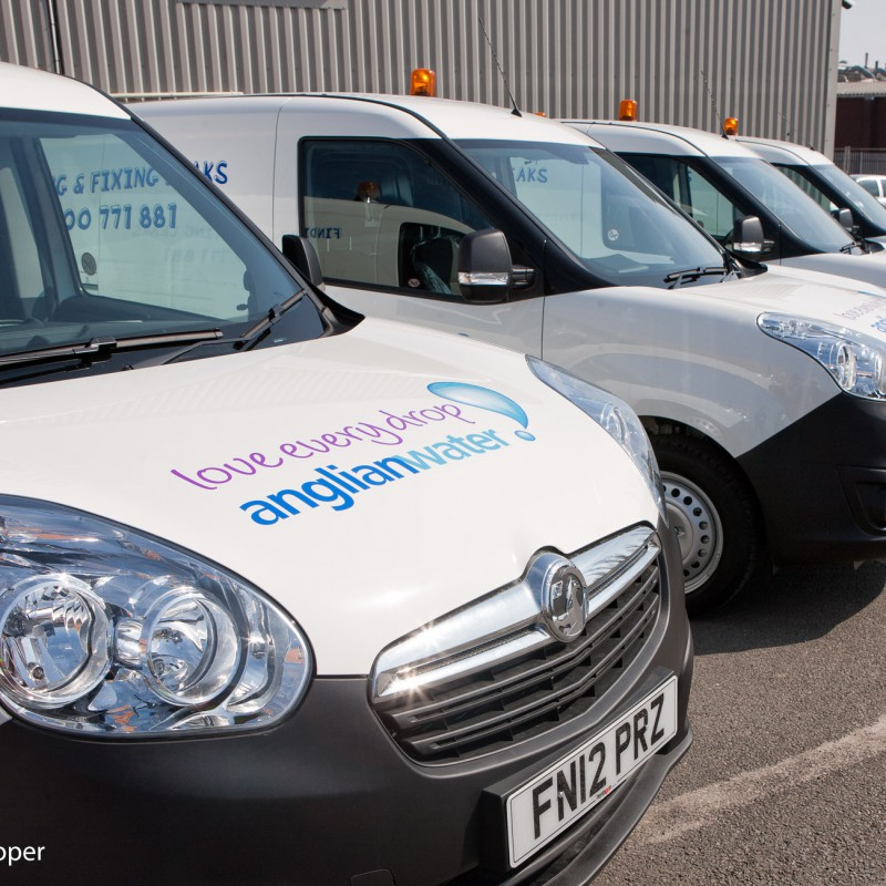 Corporate branding on vehicle fleet