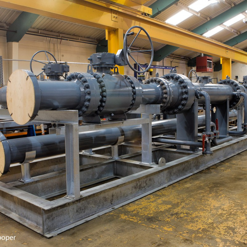 Gas platform heat exchanger