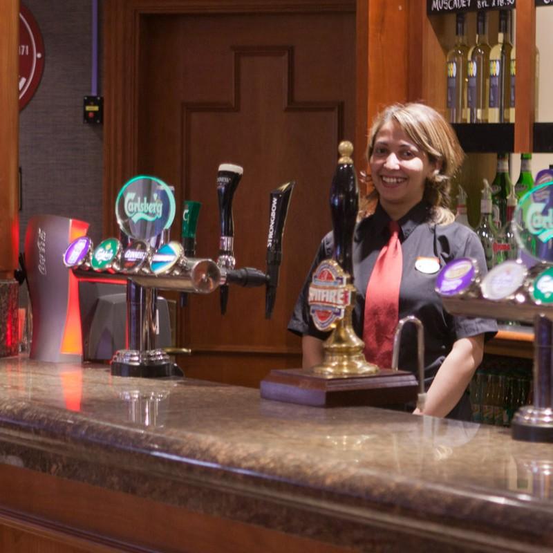 Staff at hotel bar