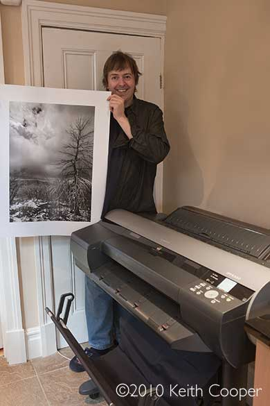 Keith and test print during printer review