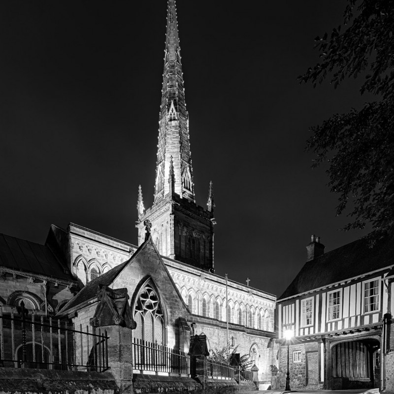 St Mary de Castro at night