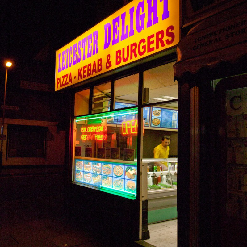 Leicester fast food
