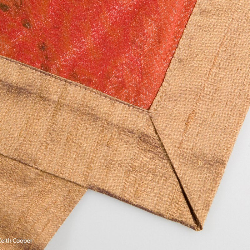 Hand stitched silk scarf