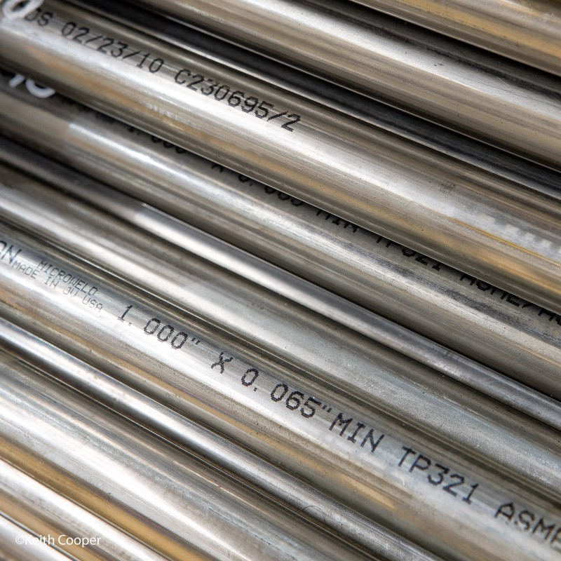 Stainless steel pipework