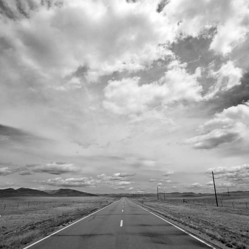 Colorado road and sky