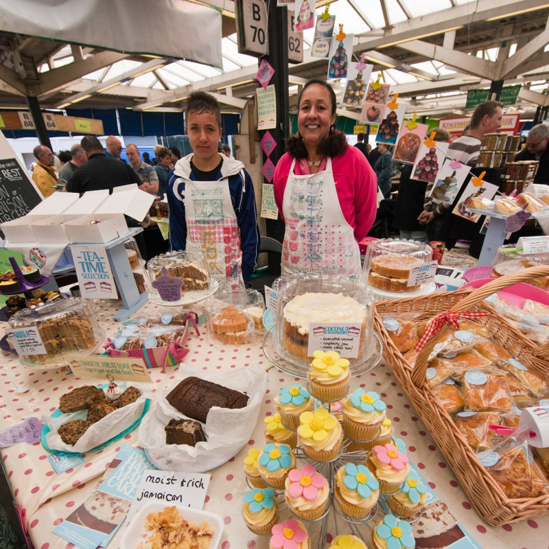 Cakes at Leicester food festival
