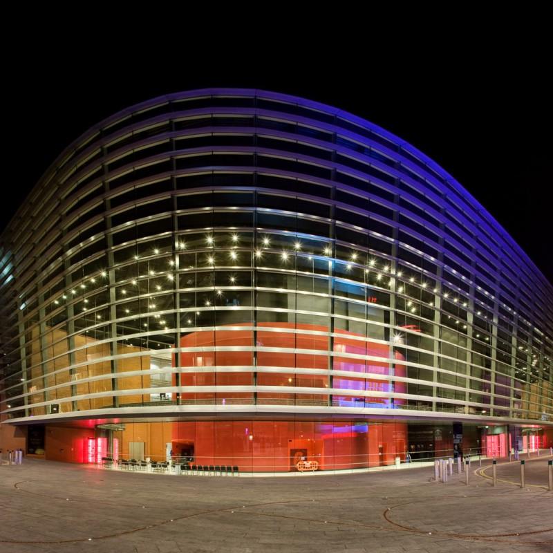 Curve theatre at night