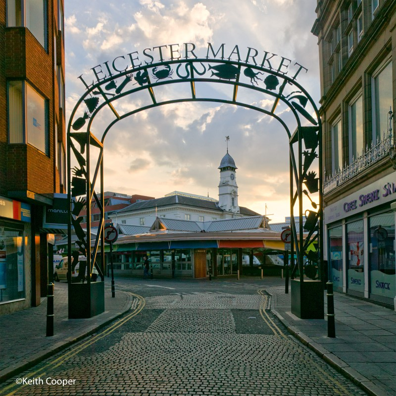 Leicester market entrance