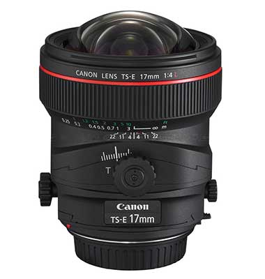 17mm tilt-shift lens