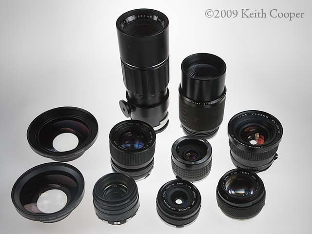 assorted lenses